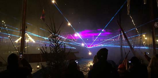 Silvester Lasershow